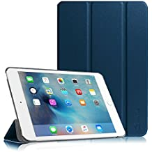 Fintie iPad mini 4 Funda - Ultra Slim Fit Smart Case Funda Carcasa con Stand Función y Auto-Sueño / Estela para Apple iPad mini 4 (2015 Versión), Azul Oscuro