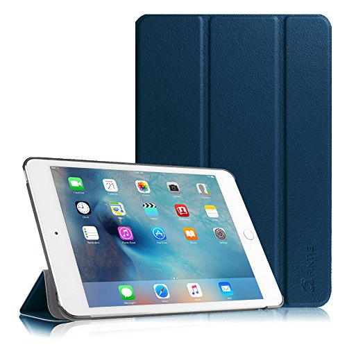 Fintie SlimShell Hülle für iPad Mini 4 - Ultradünn Superleicht Smart Stand Schutzhülle Cover Case mit Auto Schlaf/Wach Funktion, Marineblau