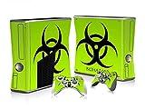 XBOX 360 Slim Skin Design Foils Aufkleber Schutzfolie Set - Biohazard Motiv
