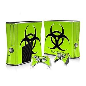 XBOX 360 Slim Skin Design Foils Aufkleber Schutzfolie Set – Biohazard Motiv