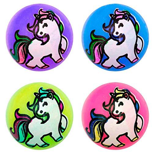Vasara Pelotas Unicornio con Luces (Precio Individual) - Pelota con Luz Niños Intantiles Flashing Rubber Ball - Detalles Niños Comuniones y Cumpleaños