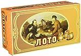 GMMH Russisches Lotto (Loto) Spielset mit Holzfiguren Bingospiel Familienspiel