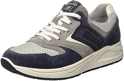 IGI&CO UBN 11161, Zapatillas para Hombre, Azul (BLU Scuro/BLU 00), 45 EU