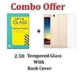 Redmi 4A Back Cover + Tempered Glass [Co...