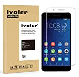 Huawei Honor 6 Plus Protection écran, iVoler® Film Protection d'écran en Verre Trempé Glass Screen Protector Vitre Tempered pour Huawei Honor 6 Plus- Dureté 9H, Ultra-mince 0.20 mm, 2.5D Bords Arrondis- Anti-rayure, Anti-traces de doigts,Haute-réponse, Haute transparence- Garantie de Remplacement de 18 Mois