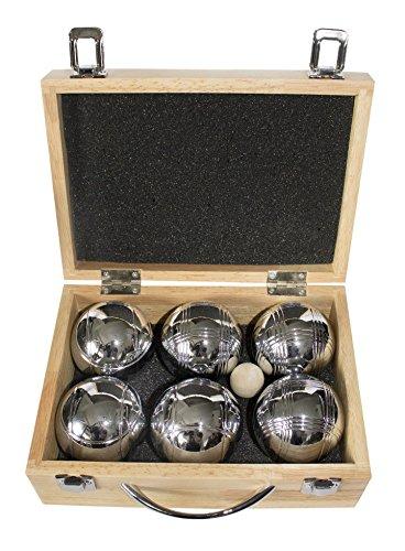 La Franc Boulekugel-Set - 6 Kugeln im Holzkoffer Leisure VI