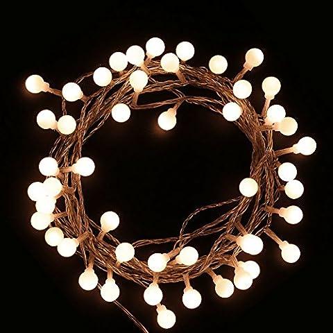 jtdeal 40-LED 4 m wasserdicht für Innen, Außen-Lichterkette Weihnachten, Garten, Hochzeit, Zimmer, Saal, etc (warmweiß)