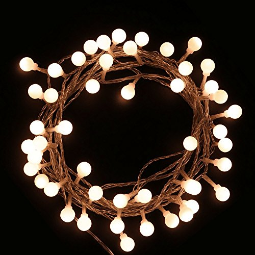 JTDEAL Cadena de Luces LED 5M 40 Bombillas Impermeable para Exterior, Interior Navidad , Jardines, Boda, Habitación, Sala, Etc (Blanco Cálido)