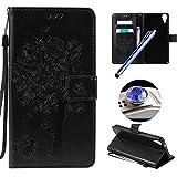 Etsue Brieftasche Hülle für HTC Desire 825 [Schmetterling