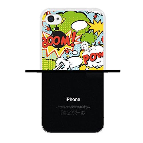 iPhone 4 iPhone 4S Hülle, WoowCase® [Hybrid] Handyhülle PC + Silikon für [ iPhone 4 iPhone 4S ] Husky-Hunde Sammlung Tier Designs Handytasche Handy Cover Case Schutzhülle - Transparent Housse Gel iPhone 4 iPhone 4S Transparent D0557