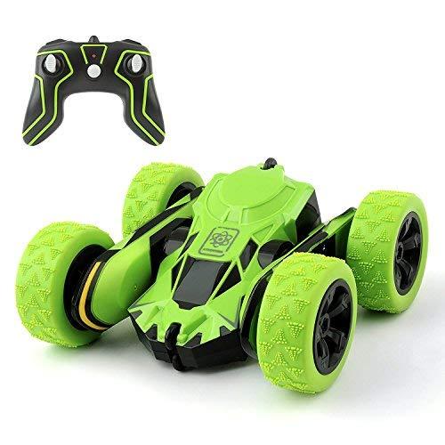 Cocopa RC Road 2WD Stunt 2.4GHz Green Remote Control Racing Veicolo ad Alta velocità 7.5mph 360Gradi rotabile Rotazione (Batteria Non Inclusa)-Auto Giocattolo per Bambini