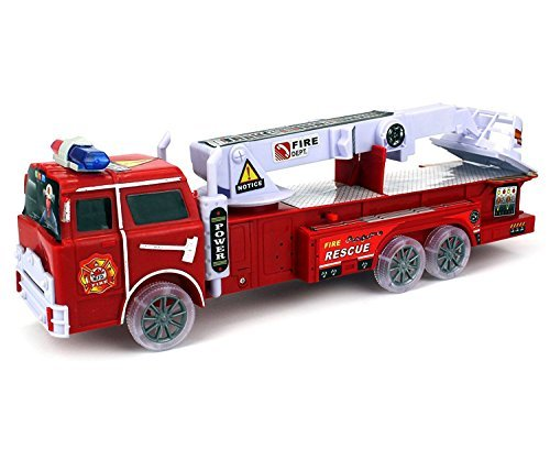 Mozlly Rescue Fire Truck with Lights and Sounds Vehicle