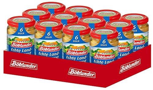 Böklunder  Echte Land-Bockwurst, 12er Pack (12 x 180 g)