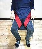 Medical Cinture di sicurezza anti-scivolo per sedia a rotelle - Bendaggio resistenza traspirante per natiche - Regolazione fasci e lunghezza fissa a coscia , red wine