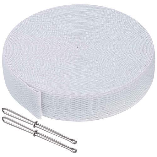 Elastici piatti, bobina di corda elastica per cucire vestiti, pantaloni, gonne, fai da te, accessori per cucito, 24 mm di larghezza, 10 m di lunghezza, bianco
