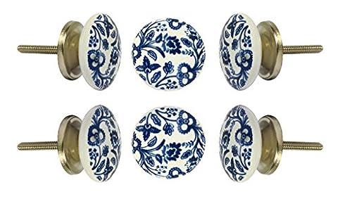 Set of 12 Ceramic Beckenham Cabinet Knobs Kitchen Cupboard Dresser Door Knob Wardrobe Drawer Pull By Trinca-Ferro