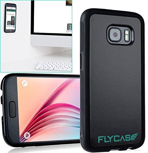 FLYCASE® [ Samsung-Galaxy-S7 Anti-Gravity-Hülle ] Anti-Schwerkraft-Schutzhülle Selbstklebende Nano-Technologie | PERFEKTE PASSFORM | Goat-Case Anti-Slip Selfie-Hülle FlyCase S7 (Selfie Stick Lebenslange Garantie)