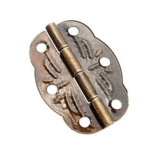 KUNSE 10Pcs 30Mmx22Mm Antique Bronze Door Butt Hinges Cabinet Gate Closet Butt Hinges Mit Schrauben -