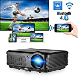 Wireless Projector WiFi Bluetooth 4200 Lumens (2018 Updated), Portable HD LED Projector 1080p