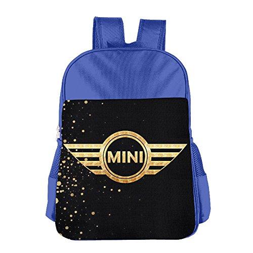 launge-kids-mini-cooper-logo-car-flags-school-bag-backpack