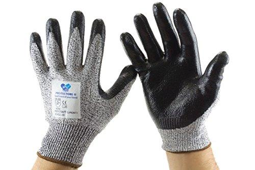 Preisvergleich Produktbild Arbeitshandschuhe Schnittschutzhandschuhe Handschuhe - cupropa - schwarz - Größe 9