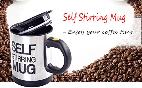 Celebration Automatic Self Stirring Coffee Mug with Lead Heavy Duty Motor , Color Black