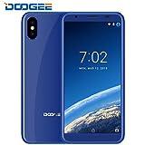 Téléphone Portable Debloqué, DOOGEE X55 Dual SIM Smartphone Pas Cher, Android 7.0 téléphone avec 5.5 pouces HD 18:9 affichage - MT6580 Quad Core Smartphone - 1Go RAM + 16Go ROM - Deux caméras arrière de 8 mégapixels - Empreinte digitale - Bleu