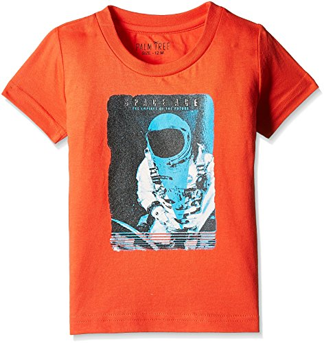 Palm Tree Baby Boys' T-Shirt (131020662176 C453_Orange .Com_12M)  available at amazon for Rs.174