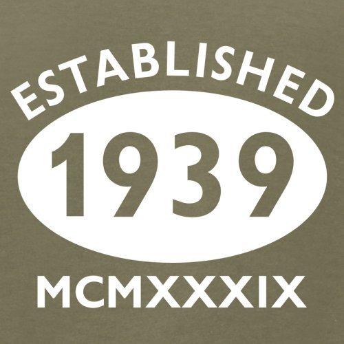 Gegründet 1939 Römische Ziffern - 78 Geburtstag - Herren T-Shirt - 13 Farben Khaki