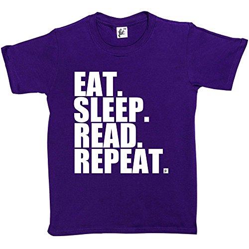 Fancy A Snuggle -  T-shirt - Collo a U  - Maniche corte  - ragazzo Purple 9 anni
