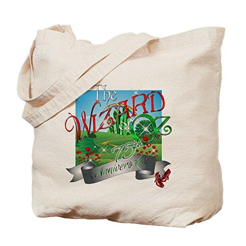 (CafePress–75. Jahrestag der Zauberer von Oz Film Mohn Tote B–Leinwand Natur Tasche, Reinigungstuch Einkaufstasche M khaki)