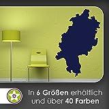 KIWISTAR Bundesland Hessen - Wiesbaden Frankfurt Wandtattoo in 6 Größen - Wandaufkleber Wall Sticker