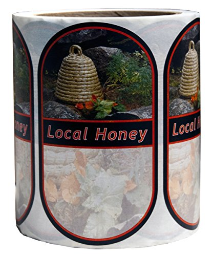 Mann Lake 250 Count Garden Skep Local Honey Oval Label, Large 1