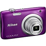 Nikon Coolpix A100 20MP Digital Camera (Purple) International Model No Warranty