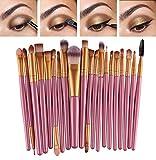 Set da 20 pennelli professionali per make-up, tra cui pennello per ombretto, pennello per fard, pennello per correttore, pennello per labbra, pennello per sopracciglia
