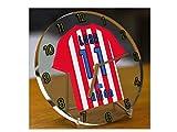 La Liga–Español camiseta de fútbol relojes de escritorio–cualquier nombre, cualquier número, cualquier equipo–personalización gratuita., hombre, Sporting Gijon