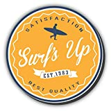 Surfs Up Surfing Label Vintage Retro Hochwertigen Auto Autoaufkleber 12 x 12 cm