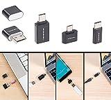 PEARL Micro SD Kartenleser: microSD-Kartenleser & USB-OTG-Adapter-Set für Micro-USB & USB Typ C (Micro SD Adapter USB)