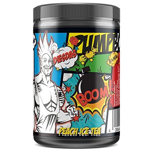 #sinob DIESDAS Pump Booster von 'Rico Lopez Gomez'. Unfassbarer Muskelpump Für Bodybuilding Und Kraftsport. 1 x 506g (Pfirsich Eistee) (Durchblutung Formel)