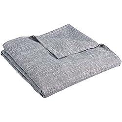 Zebra Textil 10490, Copridivano BERET, biposto, Grigio