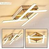 Moderne LED Deckenleuchte Golovin aus Metall – 3000 Kelvin - 3200 Lumen – Eckige Zimmerlampe nutzbar als Wohnzimmerlampe, als Schlafzimmer-Leuchte oder als Flurlicht - Deckenspot mit drehbaren Elementen
