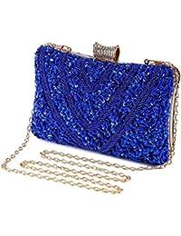 Bolso de Noche Lujo Bolso de Hombro Mujer Glitter Diamond Hard Shell Clutches para Boda,Fiesta,Baile, Bolsos de…