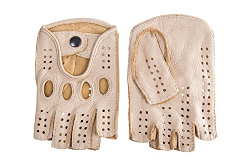 Damen Autofahrer Handschuhe Radfahrhandschuhe Aus Leder Creme By Hungant (7, Creme) Leder Fahrer Handschuhe Braun