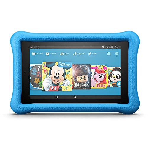 Tablet 7 Zoll Kinder (Fire 7 Kids Edition-Tablet, 17,7 cm (7 Zoll) Display, 16 GB, blaue kindgerechte Hülle)