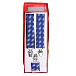 Tiekart men blue suspenders