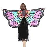 POPLY Karneval Faschingskostüme Kinder Mädchen Jungen Butterfly Wing Cape Schmetterling Flügel Kostüm Schmetterlingsflügel Erwachsene Kostüm Kimono Schal Cape Tuch 147 * 70CM