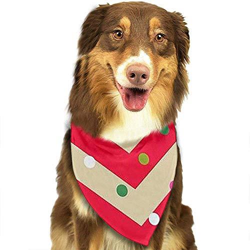 Kostüm Flieger Muster - Frohe Weihnachten Bandana Dreieck Lätzchen Schals Zubehör für Haustier Katzen und Welpen. Größe ist ca. (70x30cm).