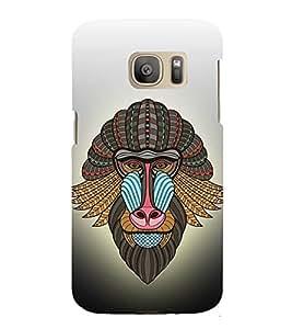 Fiobs Monkey Face Mask Art Symbol Designer Back Case Cover For Samsung Galaxy S7 :: Samsung Galaxy S7 Duos :: Samsung Galaxy S7 G930F G930 G930Fd