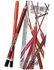 MagiDeal 12 Couleurs Ensemble de Crayons à Lèvres Mate Imperméables Lip Liner Eyeliner Ombre à Paupière Waterproof et Longue Durée