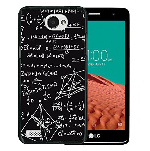 WoowCase LG X150 Bello 2 Hülle, Handyhülle Silikon für [ LG X150 Bello 2 ] Mathematische Formeln Handytasche Handy Cover Case Schutzhülle Flexible TPU - Schwarz